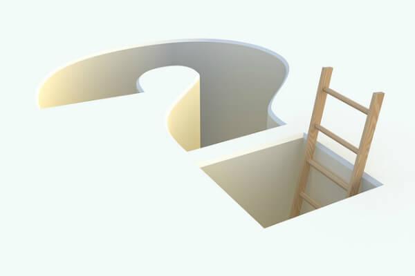 Question mark shaped hole